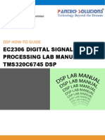 Ec2306 Digital Signal Processing Lab Manual for TMS320C6745