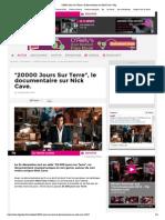 _20000 Jours Sur Terre_, Le Documentaire Sur Nick Cave
