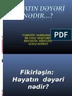 HəyatIn dəyərİ nədədir