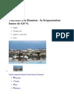 Tourisme à La Réunion La Fréquentation Baisse de 6,8 %