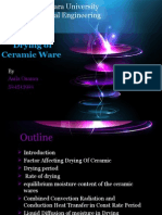 drying of cermic ware