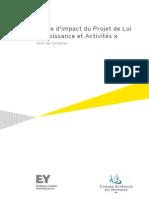 CSN Note de Synthese Etude d'impact EY de la loi Macron