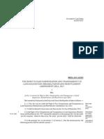 Land Acquisition, Rehabilitation and Resettlement (Amendment) Bill, 2015