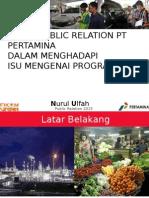 PERAN PUBLIC RELATIONS PT PERTAMINA DALAM MENGHADAPI ISU RFID