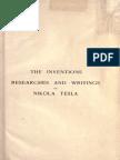 Nikola Tesla - The Inventions, Researches and Writings of Nikola Tesla