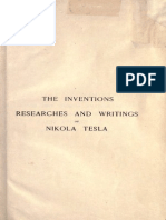 Nikola Tesla - The Inventions, Researches and Writings of Nikola Tesla