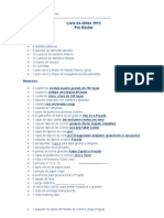 Lista de Útiles Pre Kinder 2015