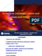 "tÉcnica de CaÑoneo ""casing Gun"" Viabilidad Futura"