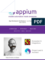 Jonathan Lipps Appium Mobile Automation Made Awesome