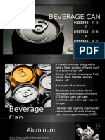 Beverage Can Manufacturing Process