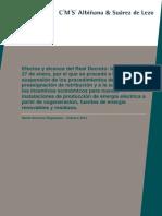 Efectos y alcance del real decreto ley 1/2012 por Albuñana