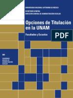 TITULACION UNAMOpciones de Titulacion en La Unam