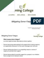 Mitigating Donor Fatigue