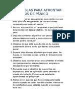 Diez Reglas Para Afrontar Las Crisis de Pánico