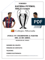 Torneo Futbol Sala Padres Colegio Alborada