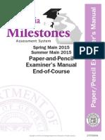 eoc examiner's manual spring summer 2015 paper pencil