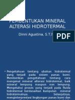 Kuliah 3 Pembentukan Dan Teknik Identifikasi Mineral Alterasi Hidrotermal