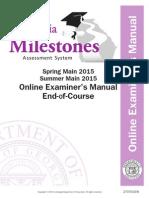 eoc examiner's manual spring summer 2015 online