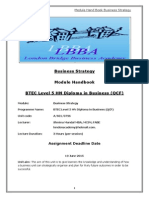 Business Stratergy Module Hand Book
