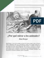 Por qué mirar a los animales, John Berger