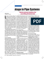 Avoid Leakage in Pipe Systems