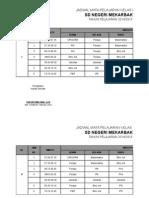 Jadwal Kelas KTSP