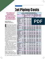 Short-cut Piping Costs