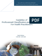 Professional Classification Manual for Health Practitioners
