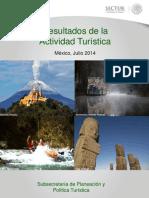 Resultados de la Actividad Turistica 2014