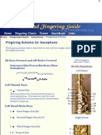Fingering Scheme for Saxophone - The Woodwind Fingering Guide