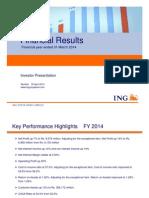 Investor Presentation Q4 FY14 1