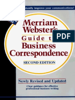 Websters Business Correspondence