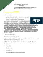 Normas Para Elaboración de Artículos Científico