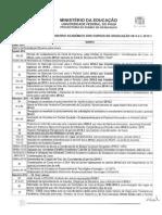 Calendario Academico 2014.2 e 2015.1