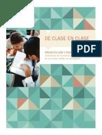 Proyecto Leer y escribir. Enseñanza de la lectura y escritura en escuelas rurales con plurigrad. Libro de Clase en Clase