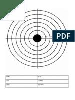 Shooting Target Print