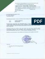 Surat Rekomendasi Magang (TA) Zimmy Fakultas Teknik Geologi Universitas Padjadjaran