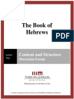 The Book of Hebrews - Lesson 2 - Forum Transcript