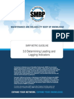 SMRP GUIDELINE 3.0 Determining Leading and Lagging Indicators