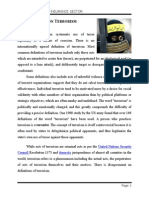 Introduction on Terrorism