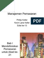 Presentasi Manajemen Pemasaran - Bab 1