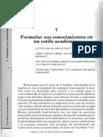 2000_CremeLea_Escribir en La Universidad_Cap7 Formular Sus Conocimientos en Estilo Académico