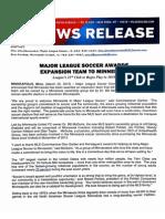 MLS Announcement from Minnestoa United