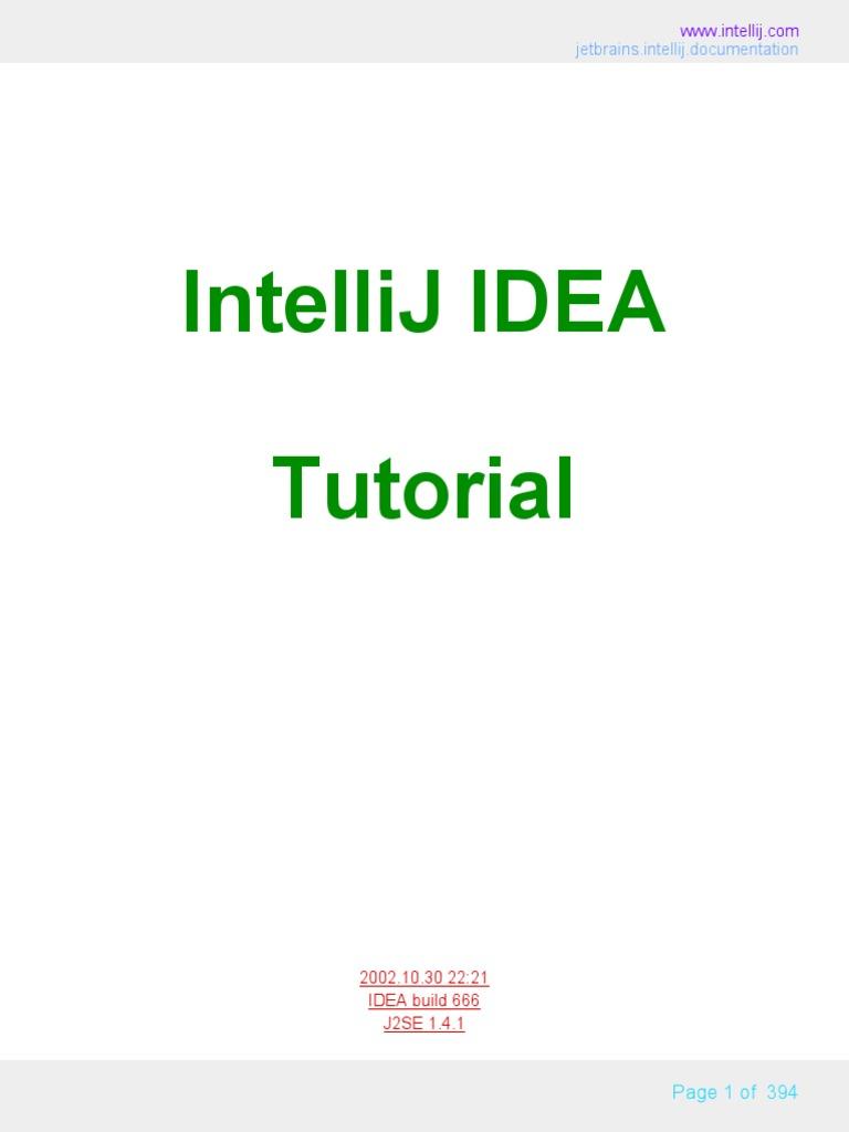 04 Intellij Idea Tutorial Internal | Java (Programming Language