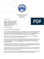 Papenfuse letter to Dauphin County Commissioners