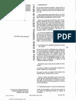 Sobrinho 1981 Taxa de Juros Nominal, Efetiv 19611