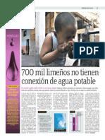Publimetro 20-03-15 700 Mil Limeños No Tienen Acceso Al Agua Potable