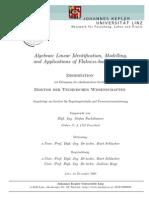 Algebraic Linear Identification Modelling and Aplications