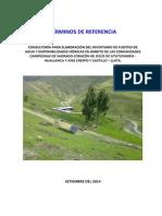 TDR- Inventario Infraestructura Hidráulica y Aprovechamiento Agua