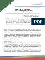 Revista Question - La visibilidad de lo público. Visibilidad y perspectiva política de la esfera pública virtual